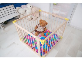 2018 upgrade Baby Toddler Deluxe Wooden Large 6 Panel Playpen